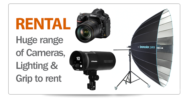 professional photography equipment for rent in london