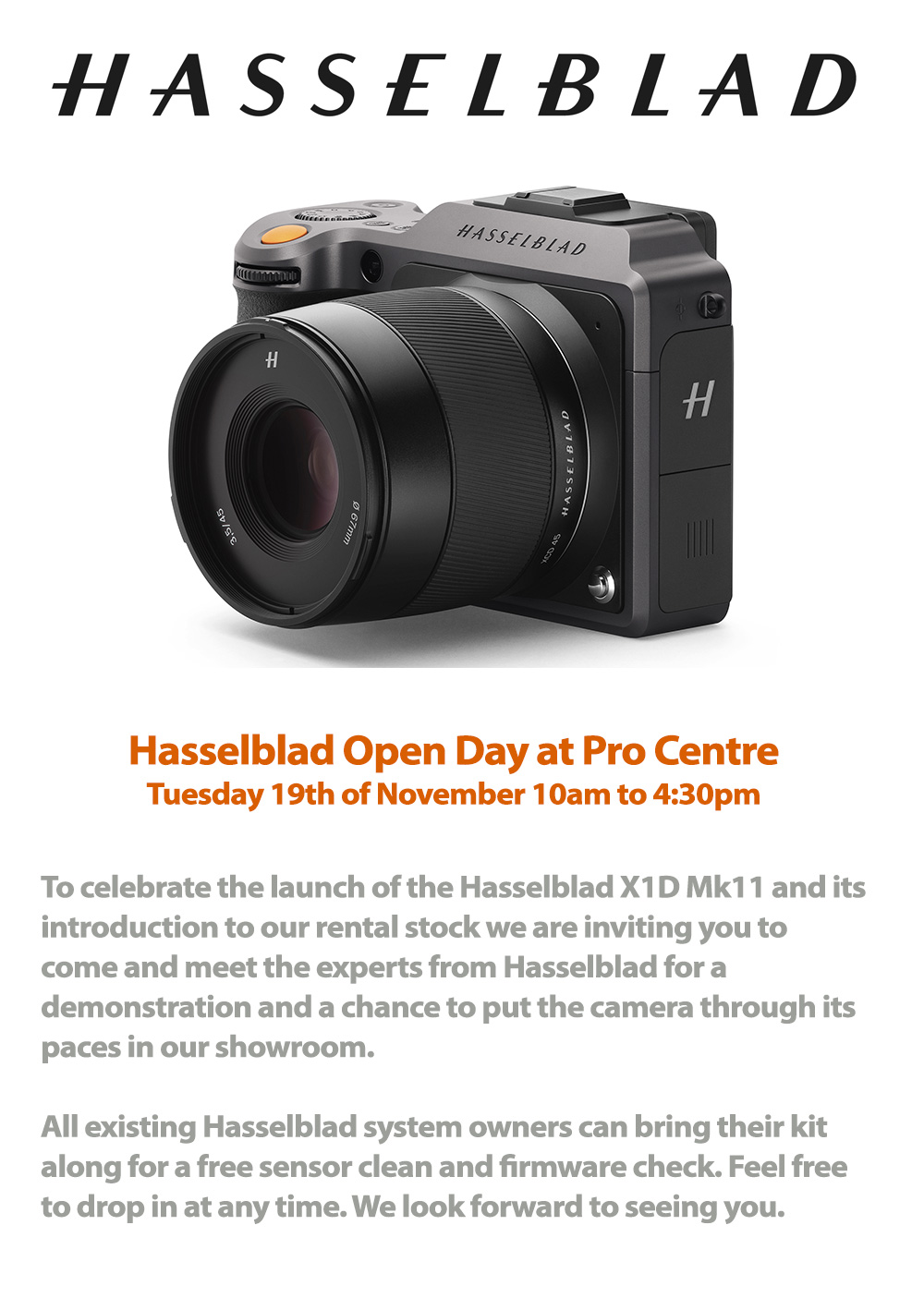 Hasselblad X1D at Pro Centre London